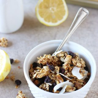 Lemon Blueberry Quinoa Granola
