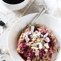 Blackberry Coconut Bulgur Breakfast Bowl