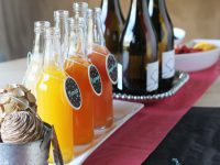 Learn how to set up a DIY mimosa bar for parties! Simple, yet impressive. Perfect for showers and brunches!