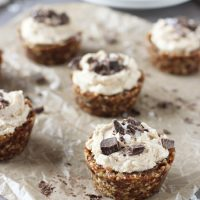 No Bake Peanut Butter and Chocolate Tarts