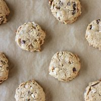 Flourless Peanut Butter Trail Mix Cookies