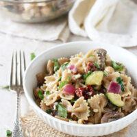 Mediterranean Farfalle Pasta Salad