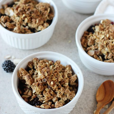 Individual Blackberry and Blueberry Crisps