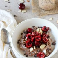 Chocolate Covered Cherry Overnight Oats