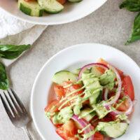 Green Goddess Cucumber Tomato Salad