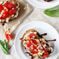 Fresh Corn and Tomato Open-Faced Sandwich