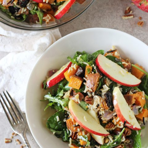 Harvest Sweet Potato and Brown Rice Salad