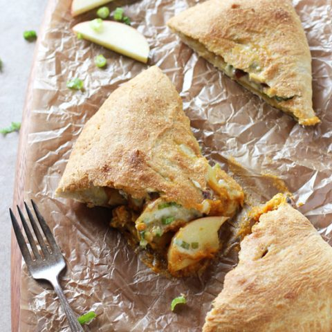 Pumpkin, Apple and Cheddar Calzones