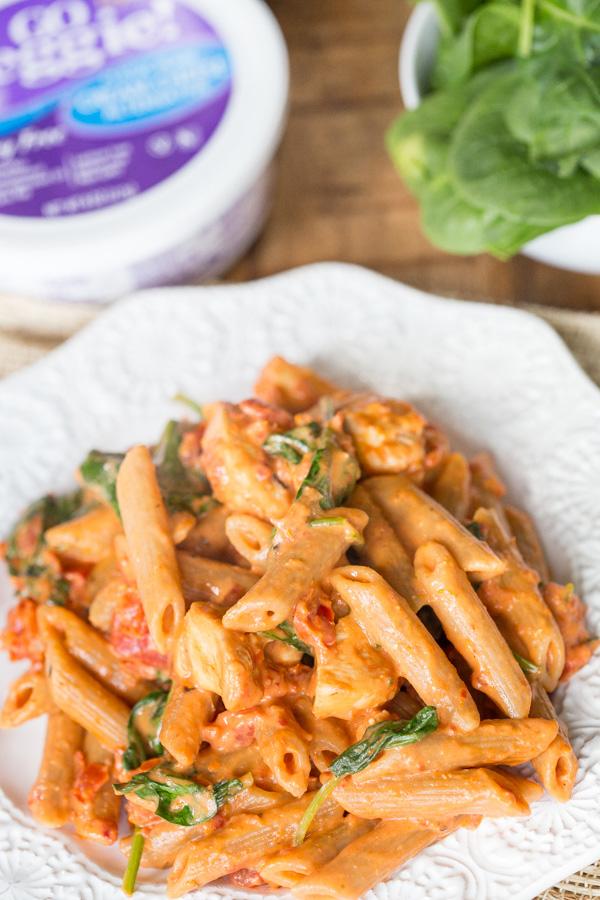 Creamy Sun Dried Tomato and Chicken Pasta