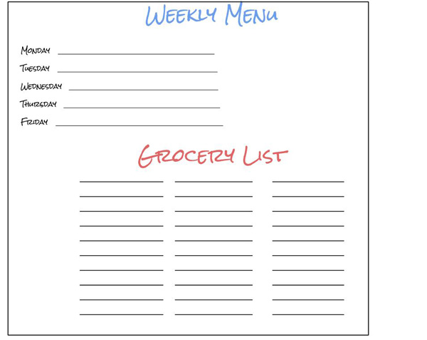 Customizable Meal Plan & Grocery List