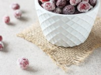 Recipe for homemade spiced sugared cranberries. Sweet, tart and sparkly! Perfect for the holiday season! And so simple to pull together.