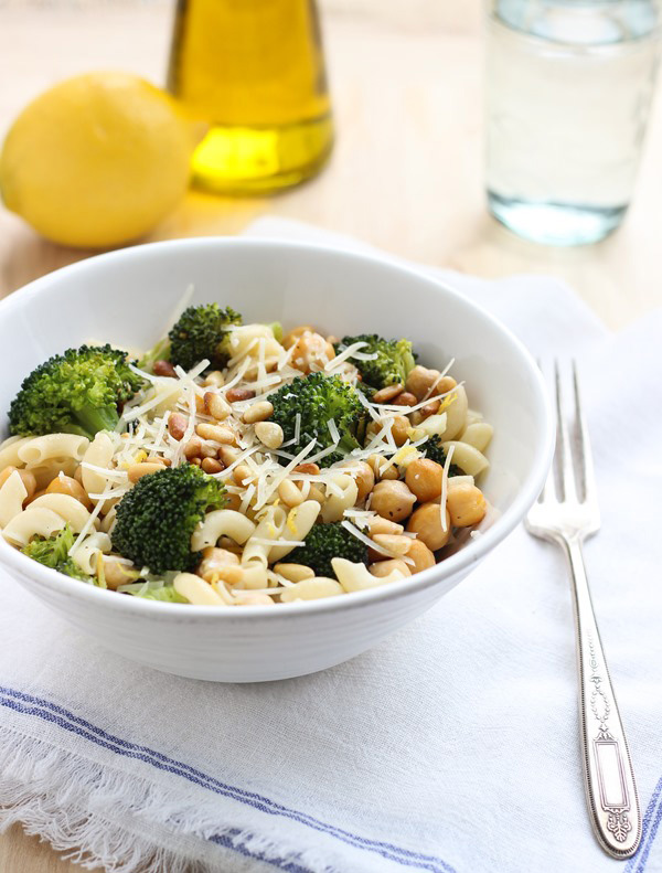 Roasted Broccoli and Lemon Pasta