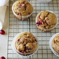 Leftover Cranberry Sauce Pumpkin Muffins