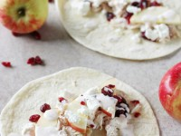 Recipe for 10-minute turkey tacos with apples and cranberries! Repurpose those Thanksgiving leftovers or use leftover chicken for a quick weeknight meal!