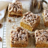 Pumpkin Apple Crumb Cake