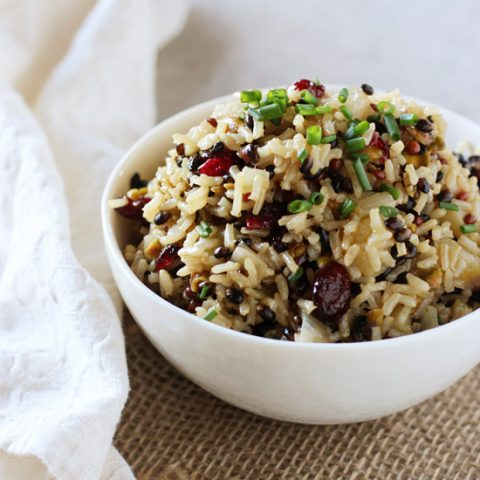 Wild Rice Pilaf with Cranberries and Apple