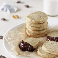 Whole Wheat Vanilla Chai Shortbread Cookies