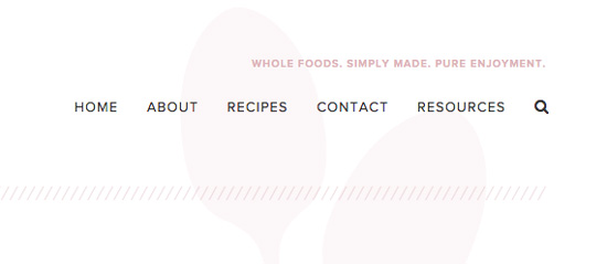 The new search bars for Cook Nourish Bliss.
