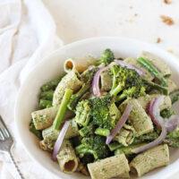 Spring Green Vegan Pesto Pasta