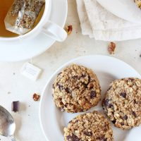 Banana Bread Breakfast Cookies with Dark Chocolate