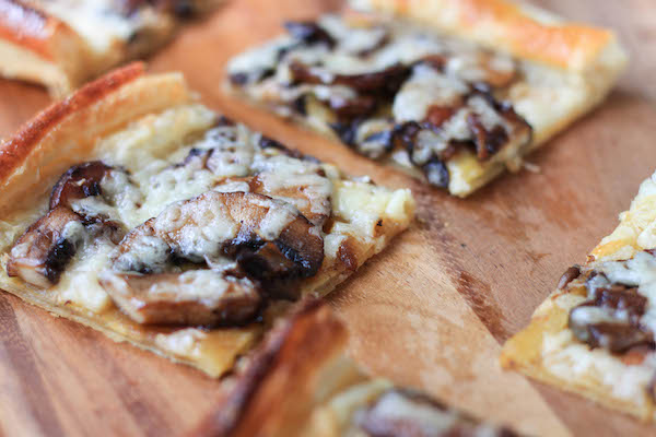 Havarti and Mushroom Flatbread