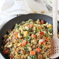 Pineapple Cashew Quinoa Fried Rice