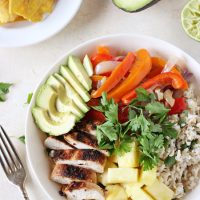 Caribbean Chicken Bowls with Coconut Rice