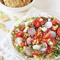 Garden Veggie Hummus Dip