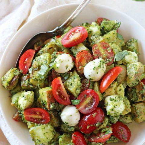 Caprese Pesto Potato Salad