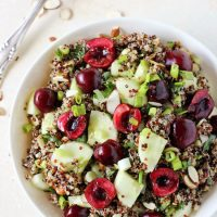 Cucumber Quinoa Salad with Cherries