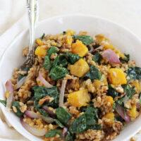 Fall Farro Salad with Butternut Squash