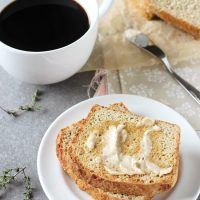 Lemon Thyme English Muffin Bread