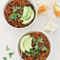 Vegetarian Pumpkin Lentil Chili