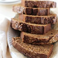 Healthy Maple Gingerbread Loaf
