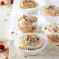 Cranberry Orange Eggnog Muffins (Dairy Free)