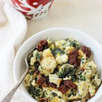 Slow Cooker Spinach Feta Egg Casserole