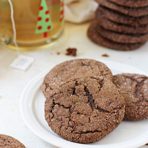Soft & Chewy Whole Wheat Gingerbread Cookies