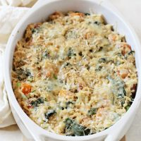Sweet Potato and Kale Brown Rice Casserole