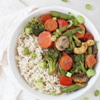 Peanut Ginger Vegetable Stir-Fry