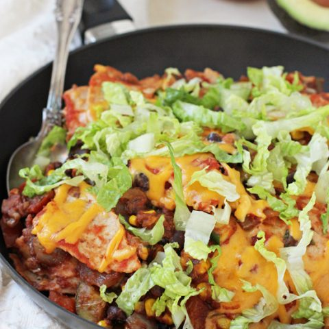 Vegetable & Black Bean Taco Skillet