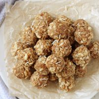 Toasted Coconut and Macadamia Energy Bites