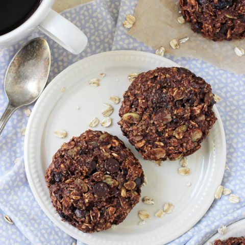 These easy and naturally sweetened chocolate cherry almond breakfast cookies are perfect for busy mornings or snacks! And they're freezer-friendly!