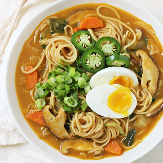 Lightened-Up Veggie Ramen Bowls