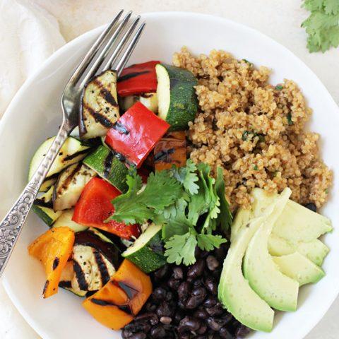 Grilled Vegetable Enchilada Bowls