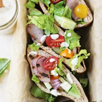Grilled Greek Salad Pita Sandwiches