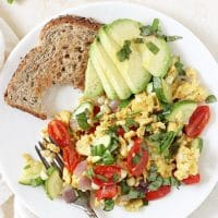 Summer Veggie Egg Scramble