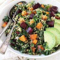 Kale and Quinoa Rainbow Salad