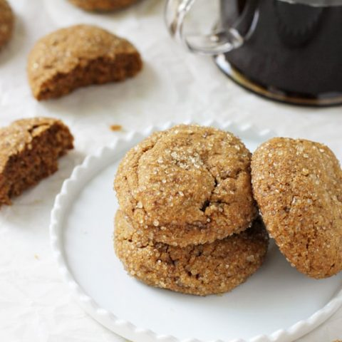 Perfectly soft & chewy whole wheat pumpkin cookies! With pumpkin puree, warm fall spices and rich vanilla! A staple for the season!
