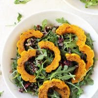 Roasted Delicata Squash & Wild Rice Salad