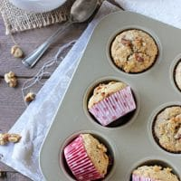 Vanilla Cardamom Walnut Muffins